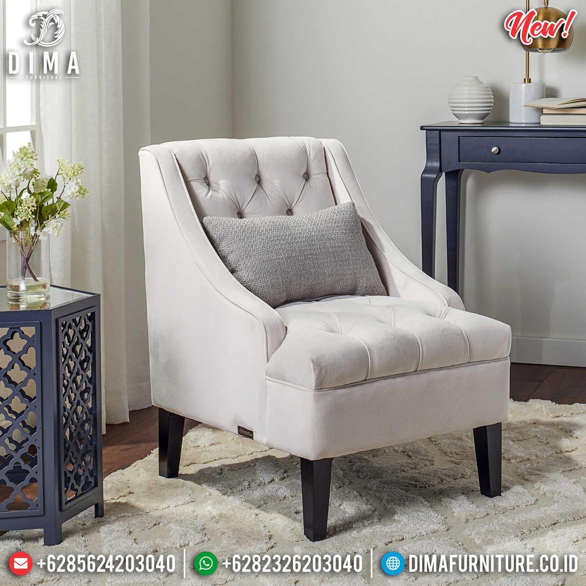 Sofa Minimalis Modern Jepara New Single Seater Beautiful Design TTJ-0812