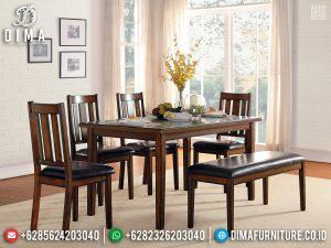 Solid Wood Meja Makan Jati Minimalis Natural Modern Great Quality TTJ-0788