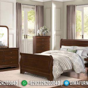 Tempat Tidur Minimalis Kayu Jati Warna Natural Salak Big Sale Discount TTJ-0783