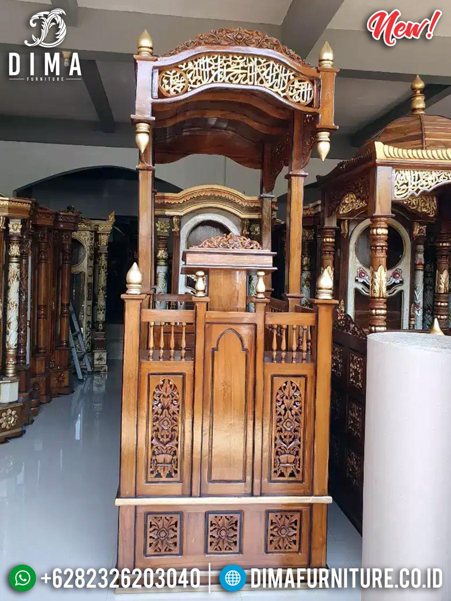 Beli Mimbar Masjid Jati Perhutani Natural Classic Best Seller Produk TTJ-0874