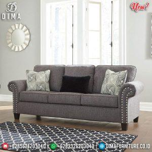 Best Product Sofa Tamu Minimalis 3 Dudukan Kayu Jati Perhutani TTJ-0904