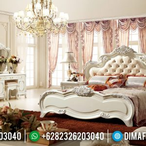Best Product Tempat Tidur Ukiran Mewah White Duco Luxury Carving Jepara TTJ-0960