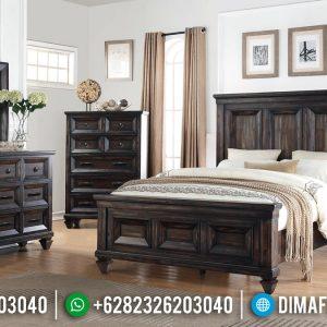 Carlotta Set Tempat Tidur Minimalis Jati Natural Klasik Furniture Jepara TTJ-0920