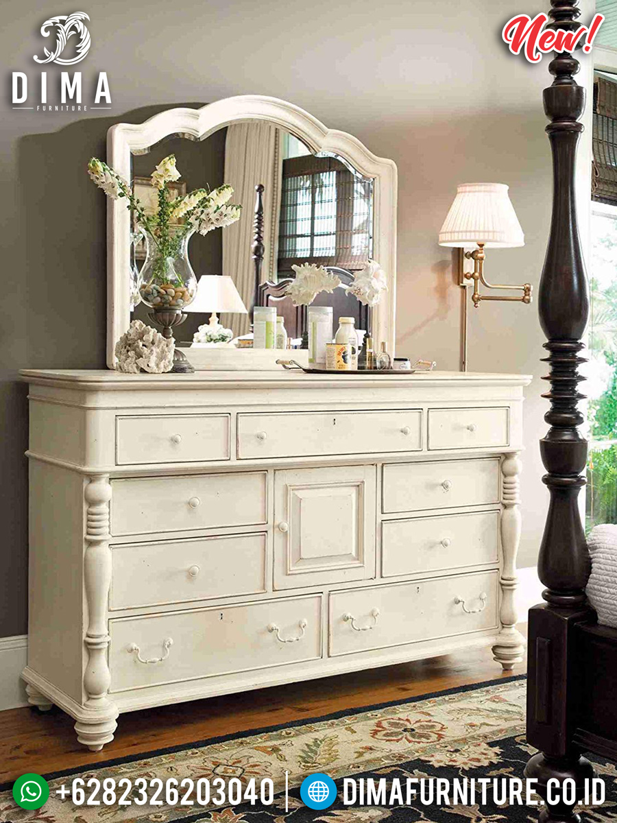 Desain Meja Konsol Minimalis White Ivory Luxury Modern Glamorous Style TTJ-0940