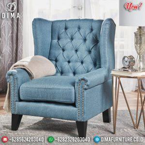 Desain Sofa Tamu Minimalist Single Seater Furniture Jepara Luxury TTJ-0892