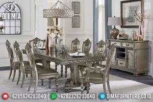 Elegant Meja Makan Mewah 8 Kursi Ukiran Luxury Mebel Jepara Terbaru TTJ-0971