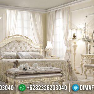 Harga Kamar Set Mewah Ukiran Luxury New White Duco Ivory Combination TTJ-0961