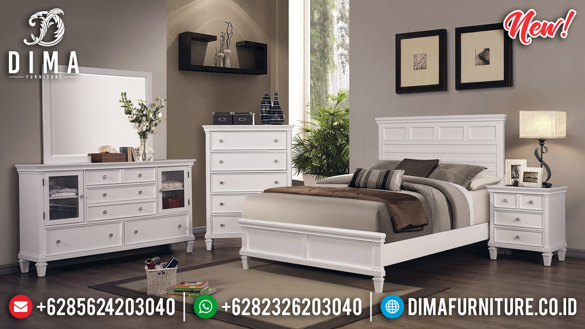 Harga Kamar Set Minimalis Putih Duco New Model Produk Guaranteed TTJ-0918