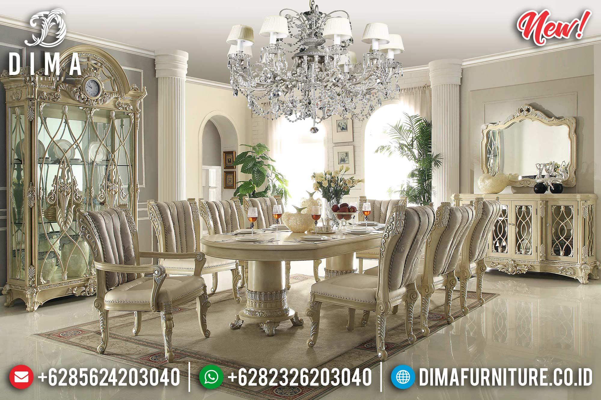 Harga Meja Makan Mewah Terbaru Luxury Carving New Design Furniture Jepara TTJ-0969