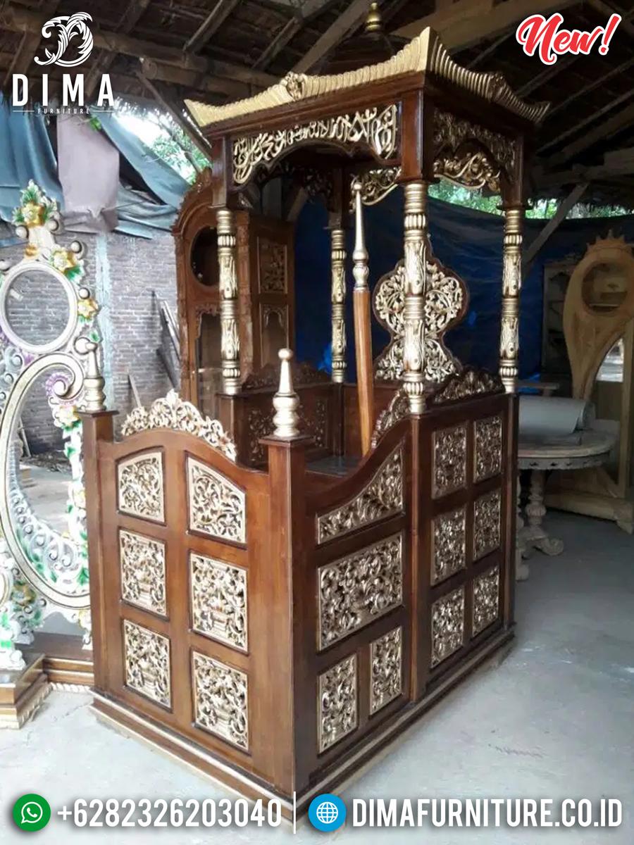 Harga Mimbar Kayu Jati Ukiran Jepara Desain Luxury Mebel Jepara TTJ-0878