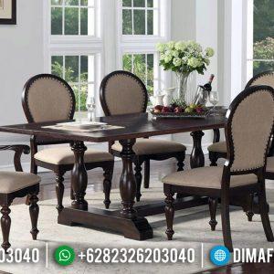 Jual Meja Makan Minimalis Jati Natural Klasik Absolute Design Luxury TTJ-0926