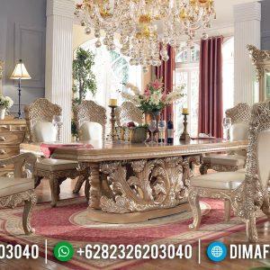 Jual Meja Makan Ukiran Mewah Furniture Luxury Jepara New Normal Release TTJ-0966