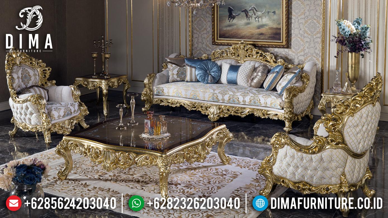 Jual Sofa Tamu Mewah Luxury Carving Golden Shine Best Quality Product TTJ-0929