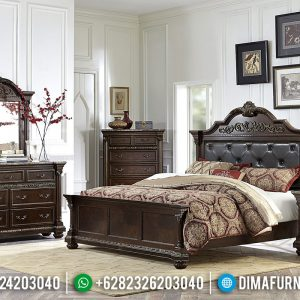 Kamar Set Jati Minimalis Natural Luxury Great Solid Wood Jepara TTJ-0963