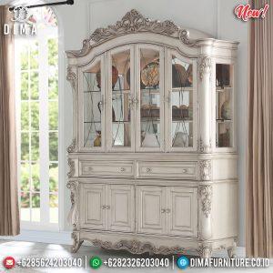 Lemari Hias Mewah Ukiran Jepara Luxury Classic Desain Epic Barocco Rome TTJ-0976