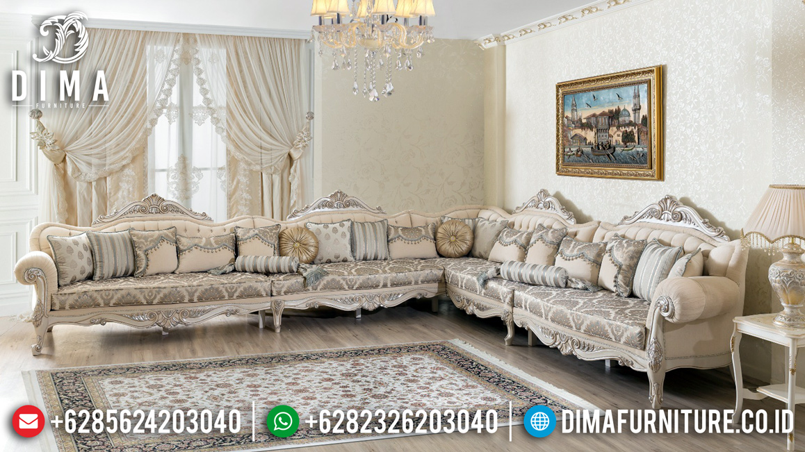 Louvre Design Sofa Tamu Jepara Luxury Carving New Release Produk TTJ-0932
