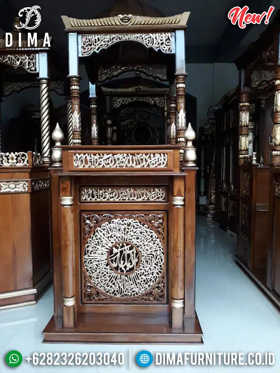 Mebel Jepara Mimbar Masjid Kayu Jati Natural Perhutani Superior Great Quality TTJ-0881