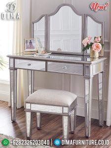 Meja Rias Minimalis Modern Full Glass Elegant Style Furniture Jepara TTJ-0937