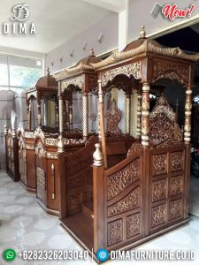 Mimbar Masjid Jati Kubah New Desian Persian Furniture Jepara Luxury TTJ-0880