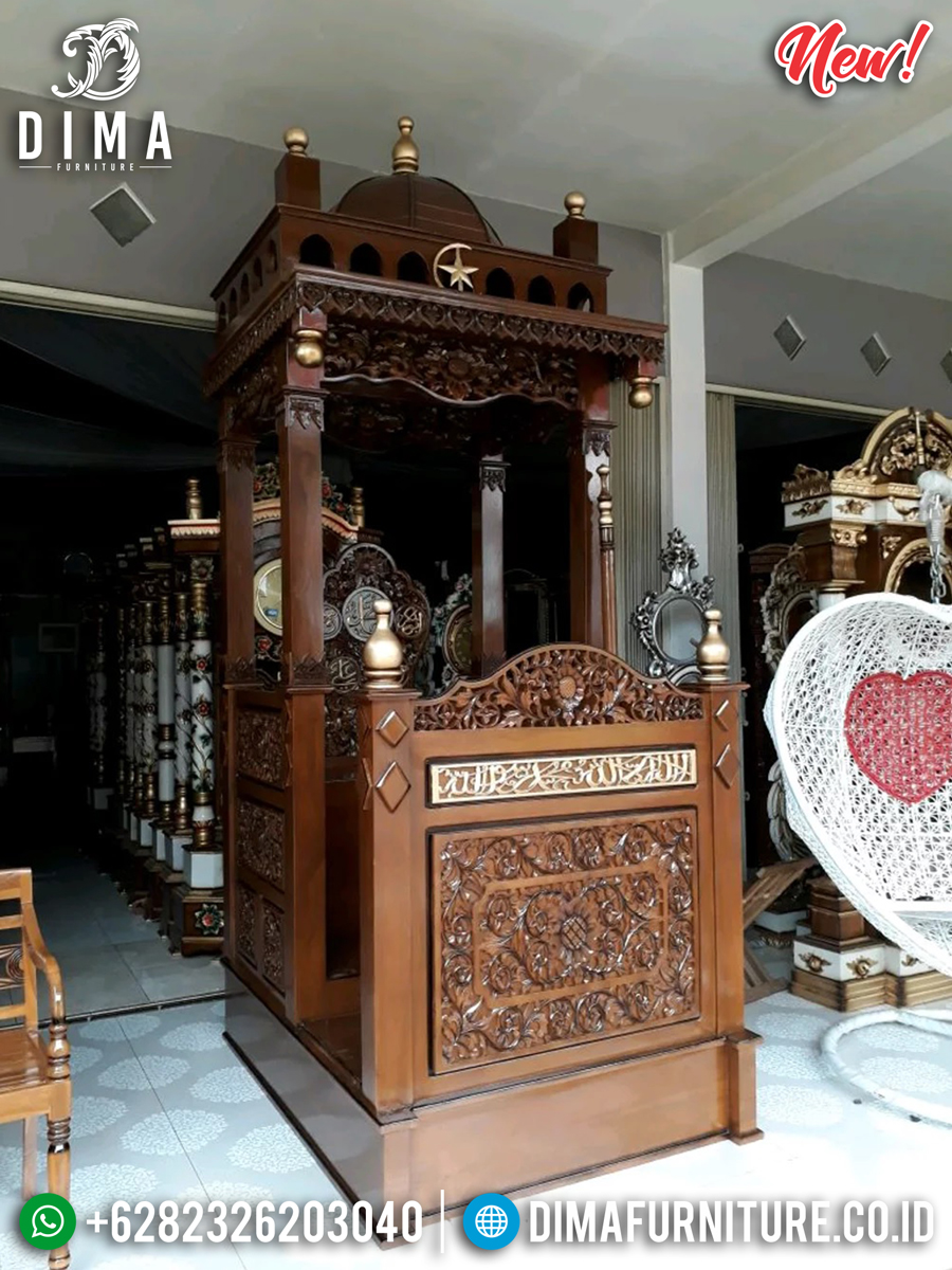 Mimbar Masjid Jati TPK Natural Salak Furnishing Get Discount TTJ-0879