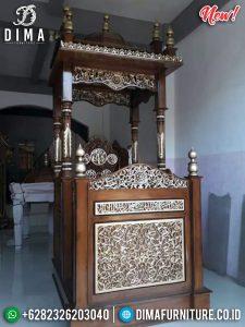 New Desain Mimbar Masjid Jati Ukiran Luxury Classic Furniture Jepara TTJ-0869