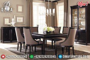 New Design Meja Makan Minimalis Jati Natural Klasik Dark Brown Mebel Jepara TTJ-0948