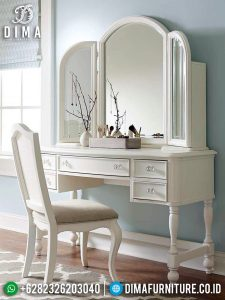 New Meja Rias Minimalis Putih Duco Harga Murah Great Quality Product TTJ-0938