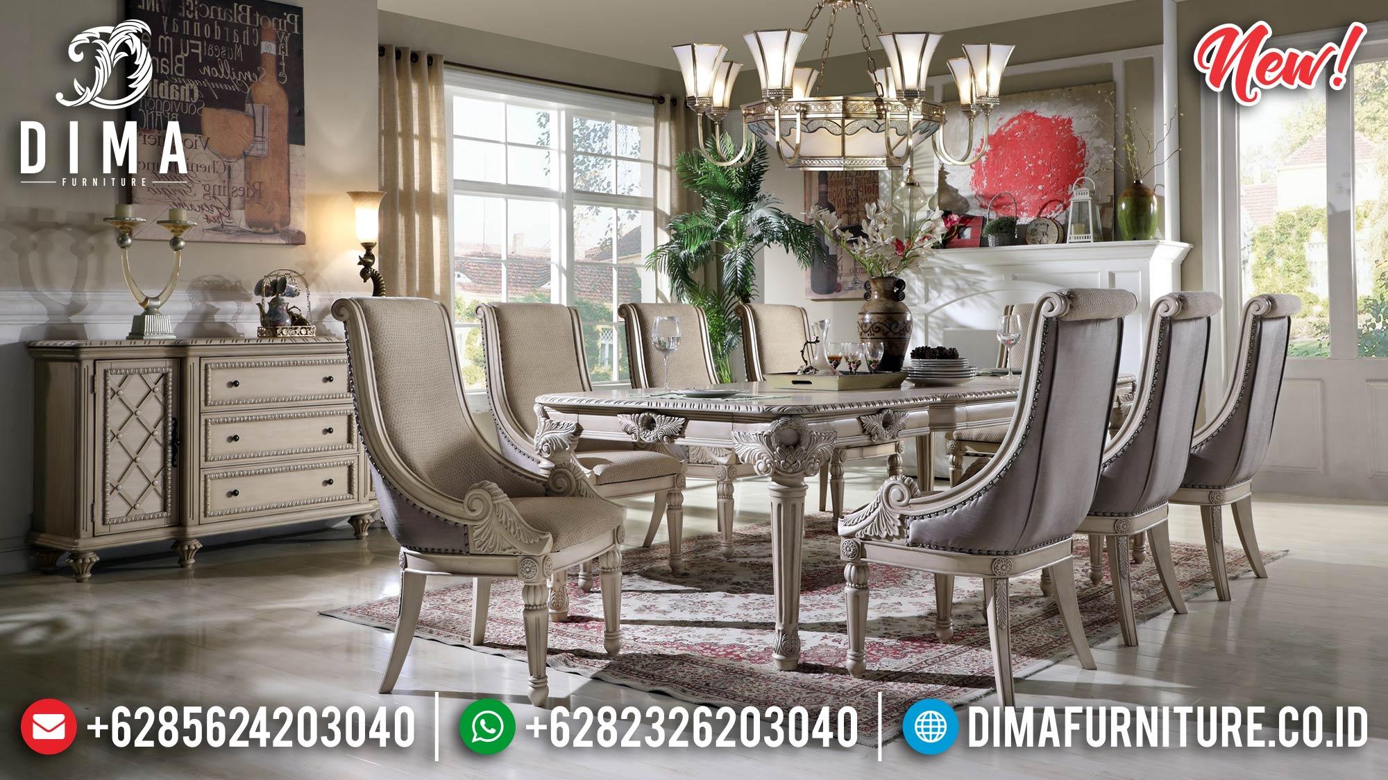 New Set Meja Makan Mewah Jepara Luxury Harga Terjangkau Kualitas Tinggi TTJ-0965