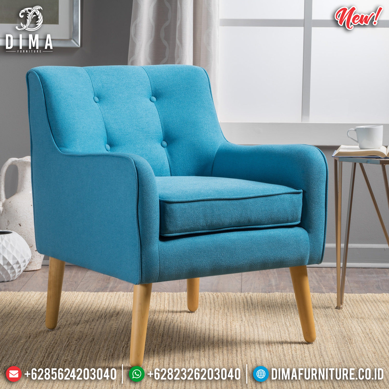 Sofa Minimalis Jati Natural Retro Classic Beautiful Design Mebel Jepara TTJ-0900