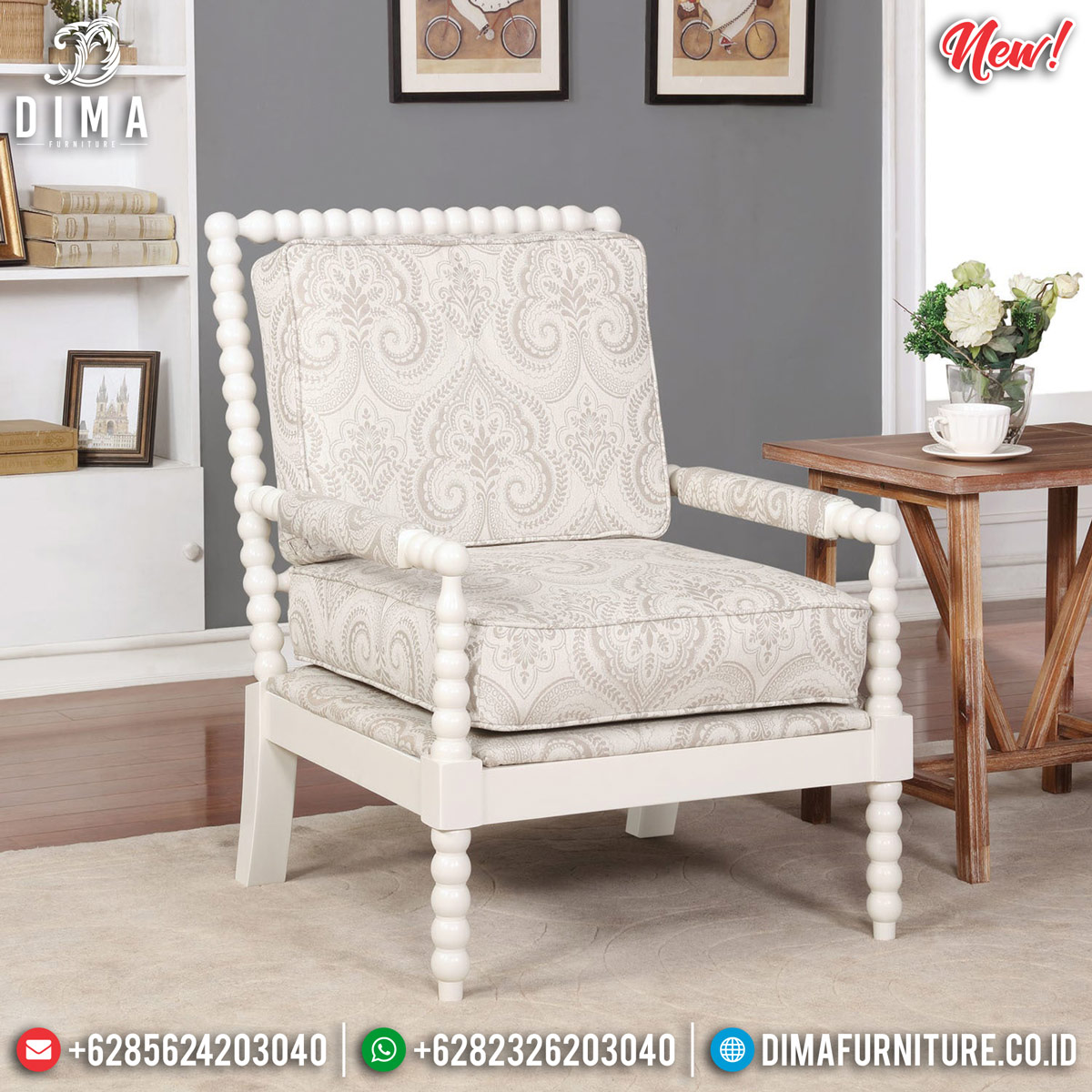 Sofa Tamu Minimalis Single Seater Furniture Jepara Terbaru TTJ-0897