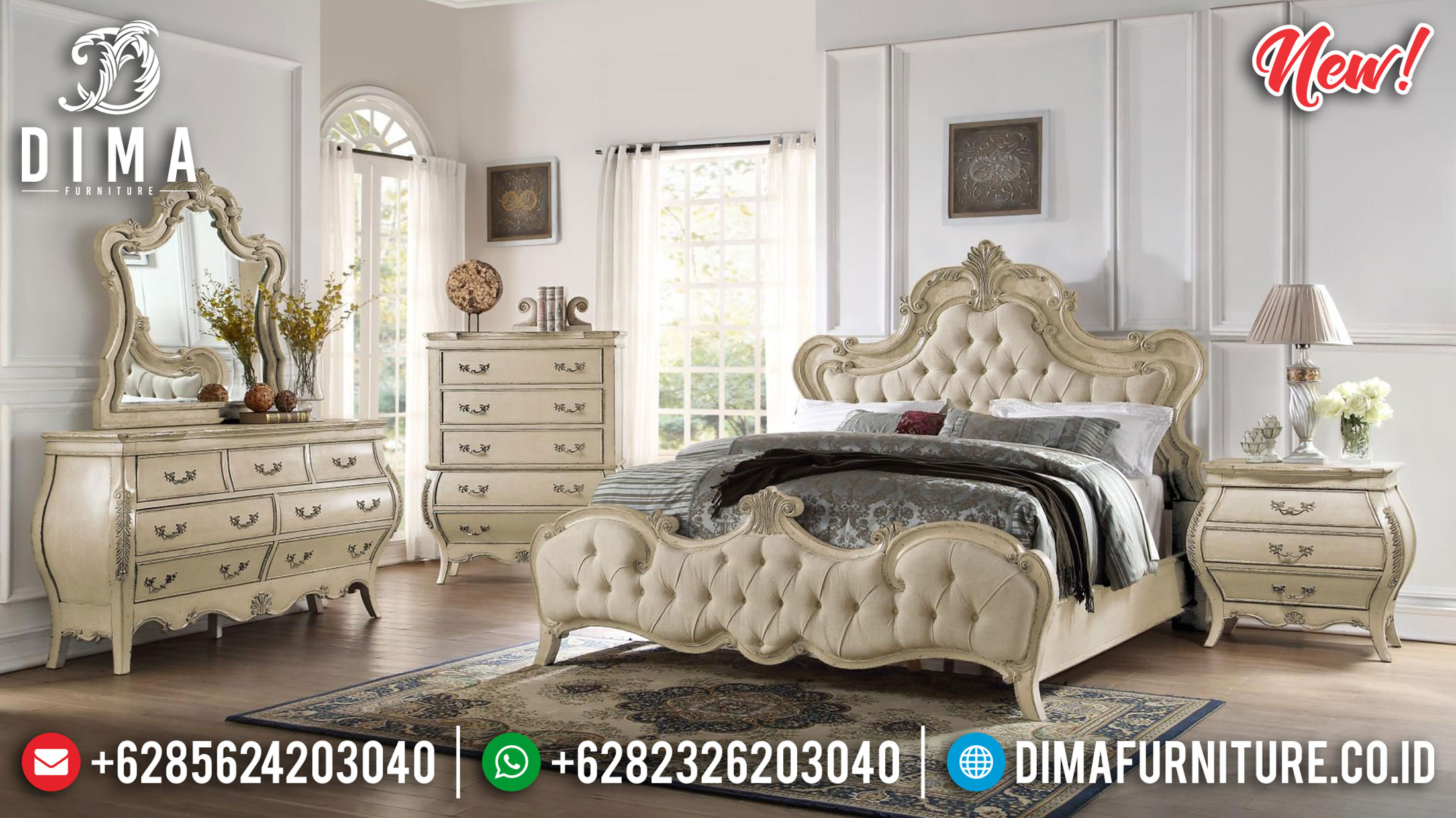 Black Friday Sale Set Tempat Tidur Mewah Luxury Carving Furniture Jepara Terbaru TTJ-1079