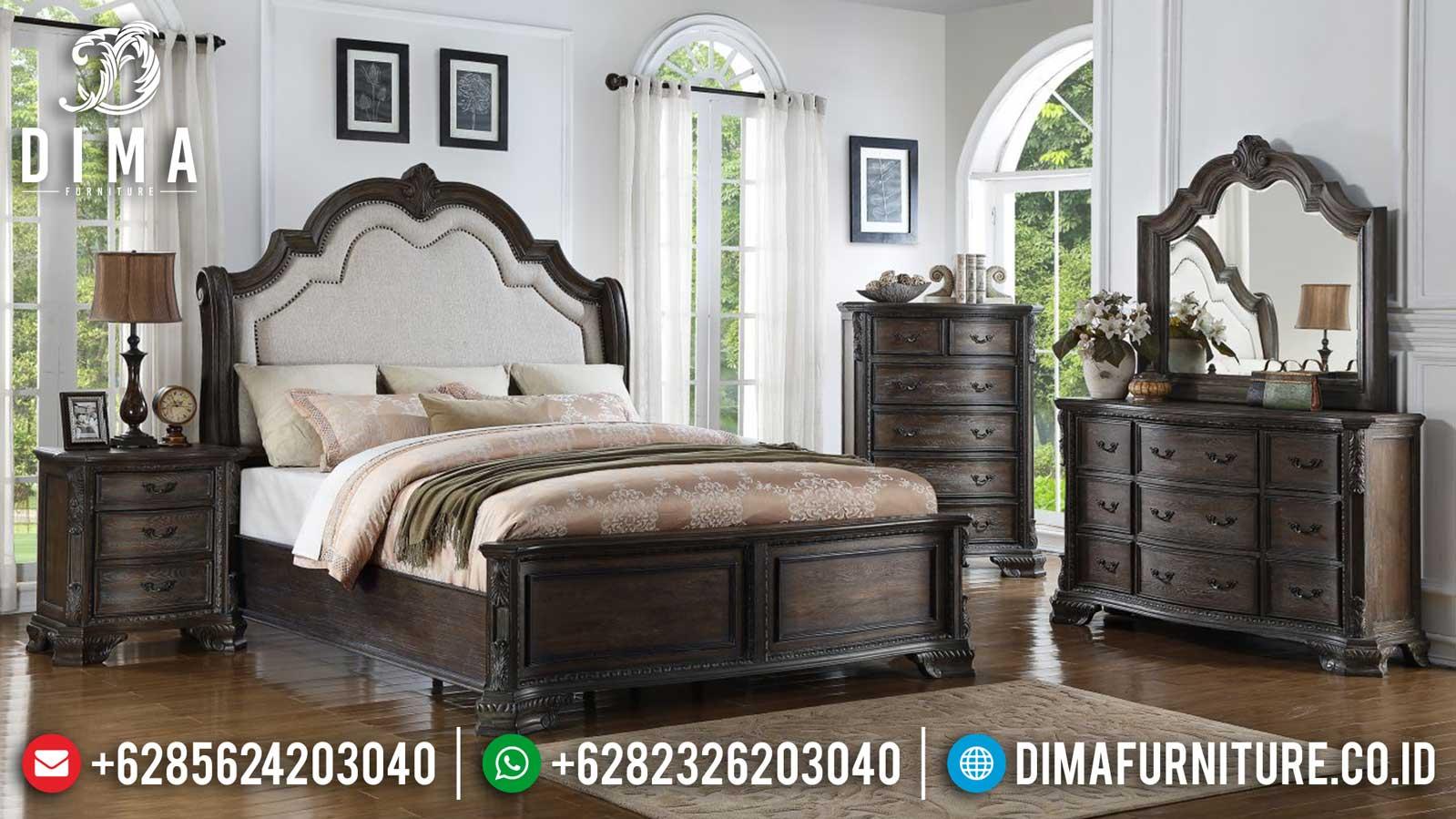 Clarisa Kamar Set Minimalis Jati Classic Natural Dark Brown Color TTJ-1095