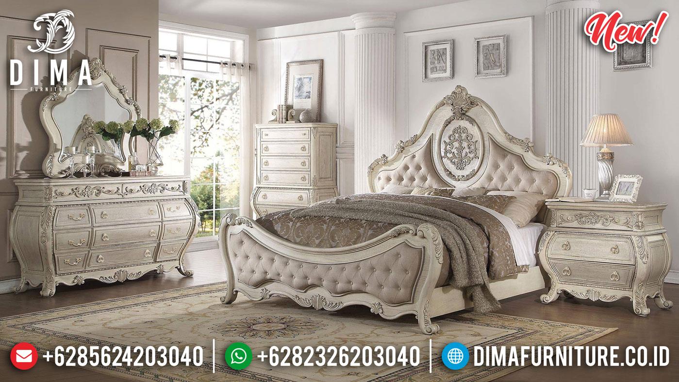 Desain Kamar Set Mewah Jepara Luxury Carving White Broken Duco Elegant Color TTJ-1077