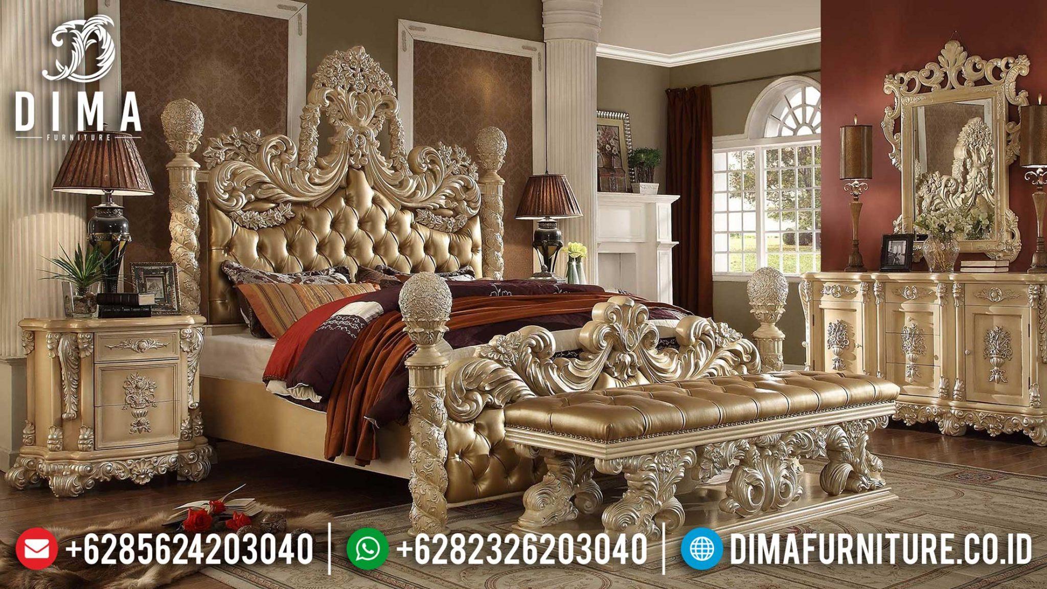Design Interior Kamar Set Ukir Jepara Luxury Classic Olimpico Rome Style TTJ-1135