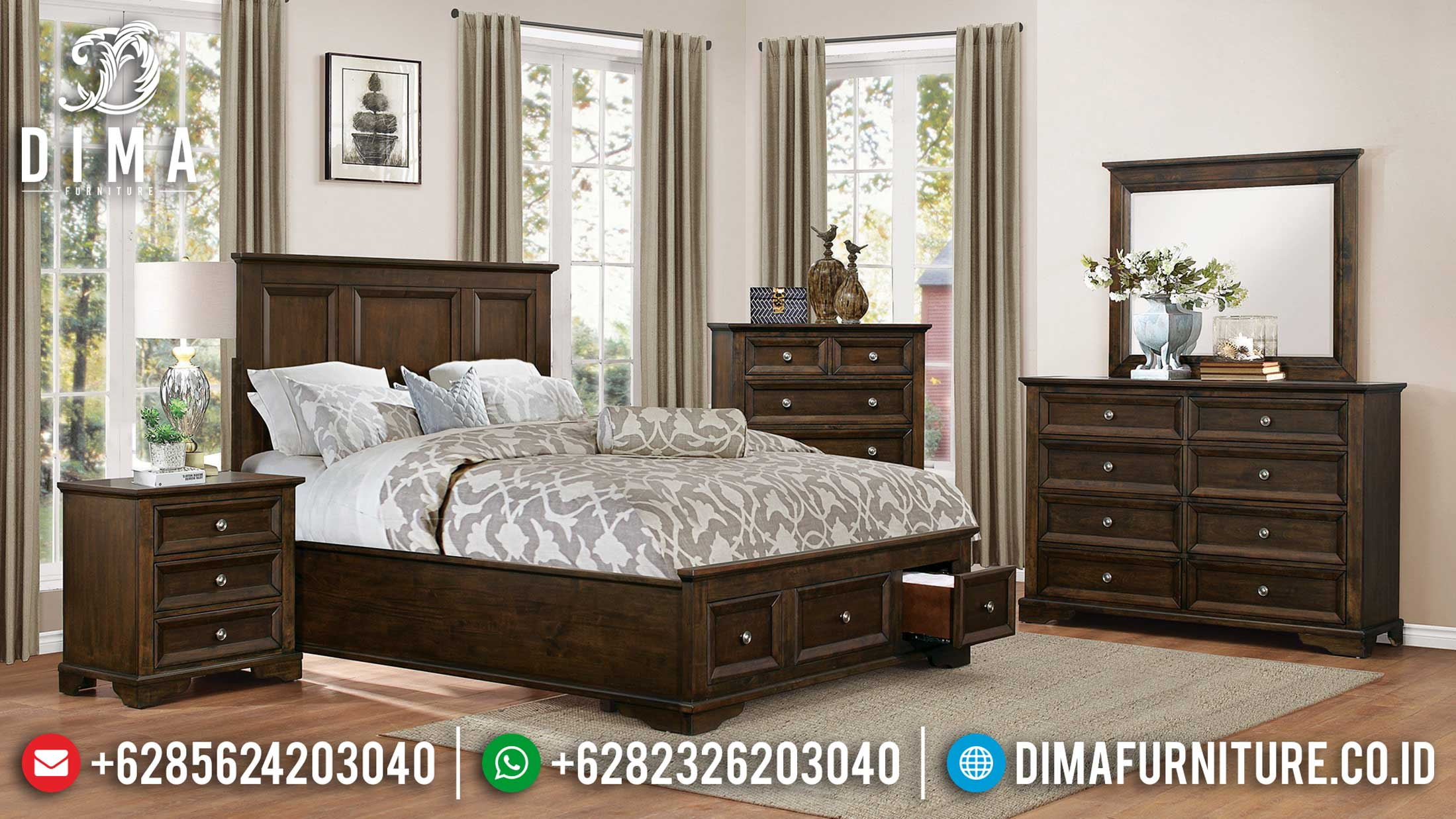 Elegant Style Tempat Tidur Minimalis Modern Now Available Furniture Jepara TTJ-1097
