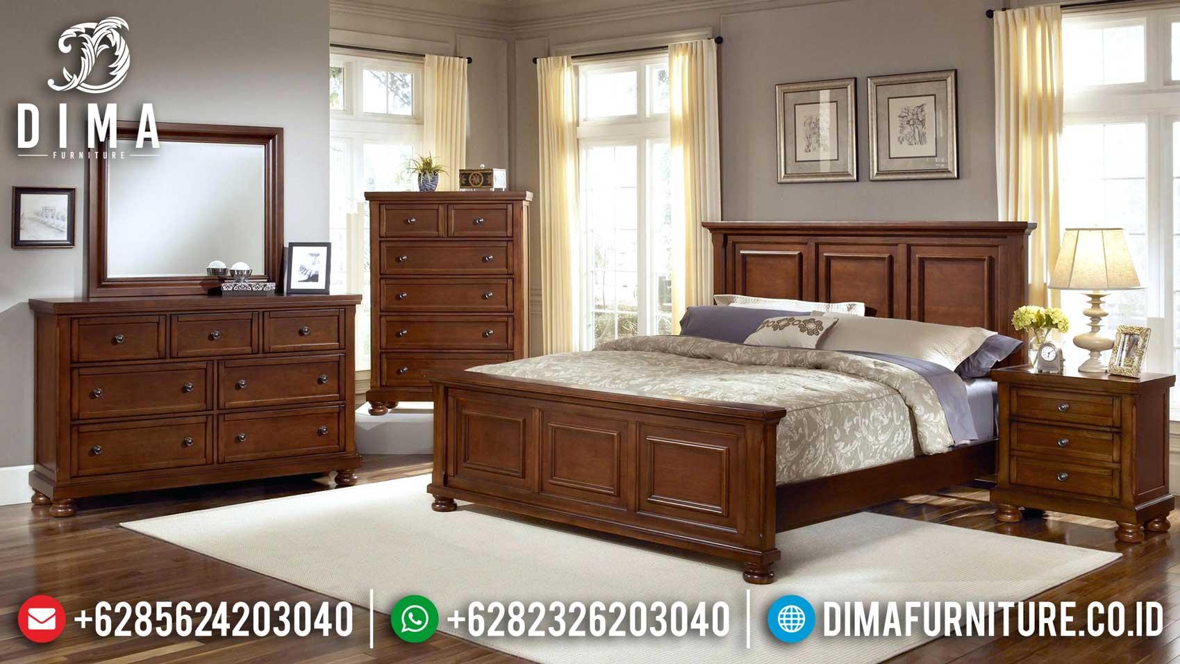 Fransisca Design Tempat Tidur Minimalis Jati Natural Auburn Classic Luxurious TTJ-1129
