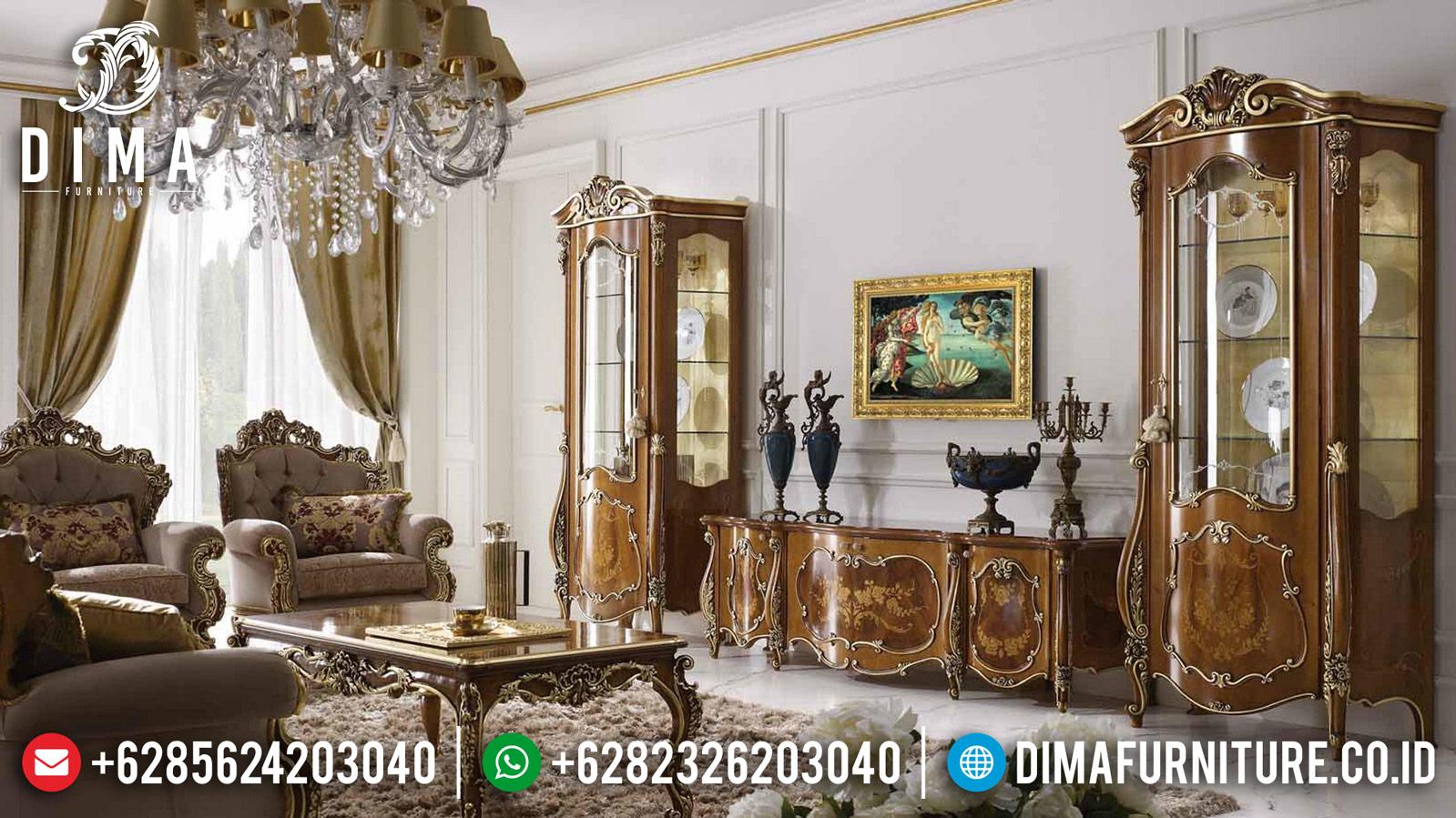 Glorious Bufet TV Jati Ukiran Luxury Classic Furniture Jepara Murah TTJ-1022