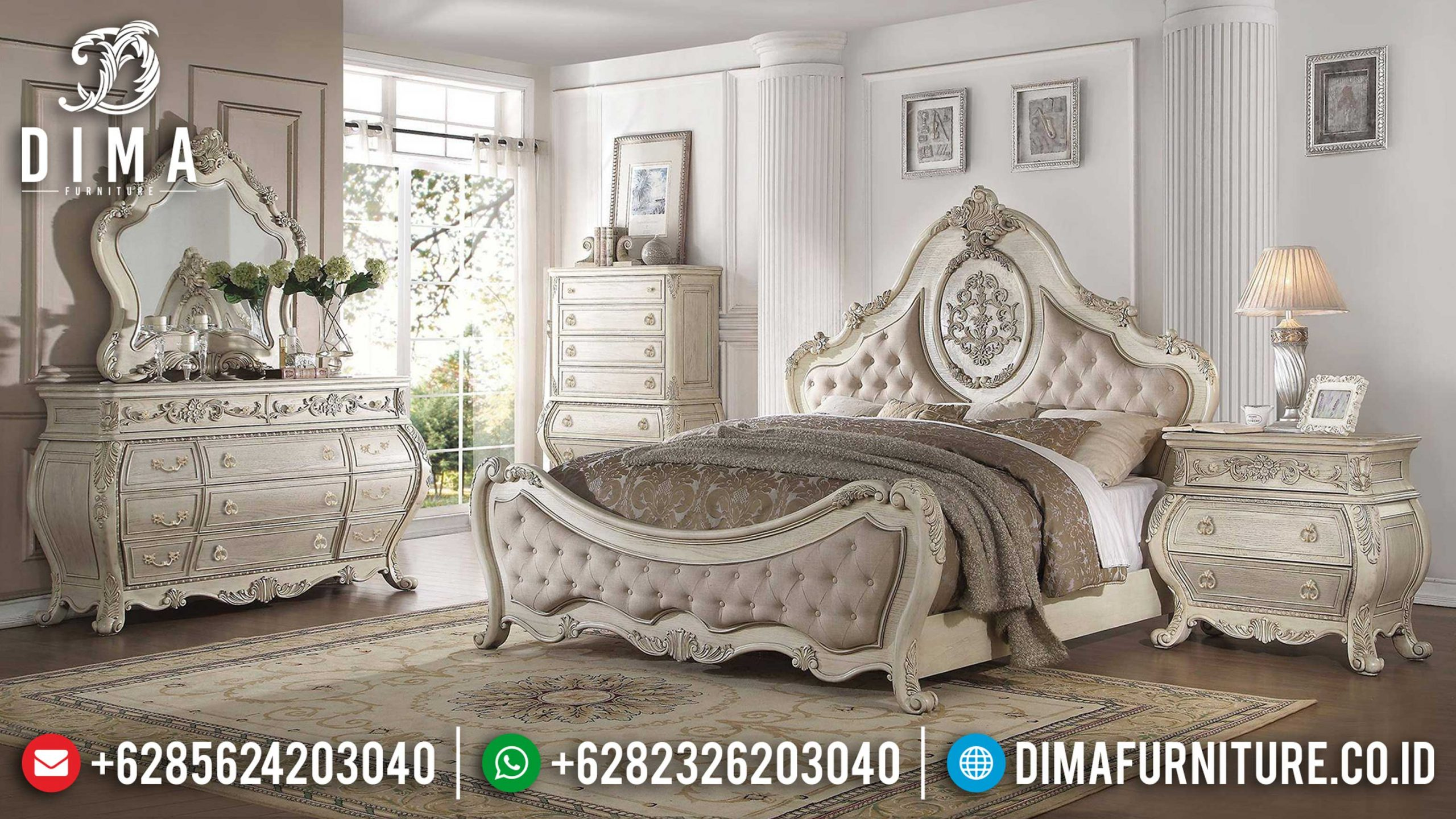 Gorgeous Tempat Tidur Mewah Ukiran Luxurious Royal Design Furniture TTJ-1105
