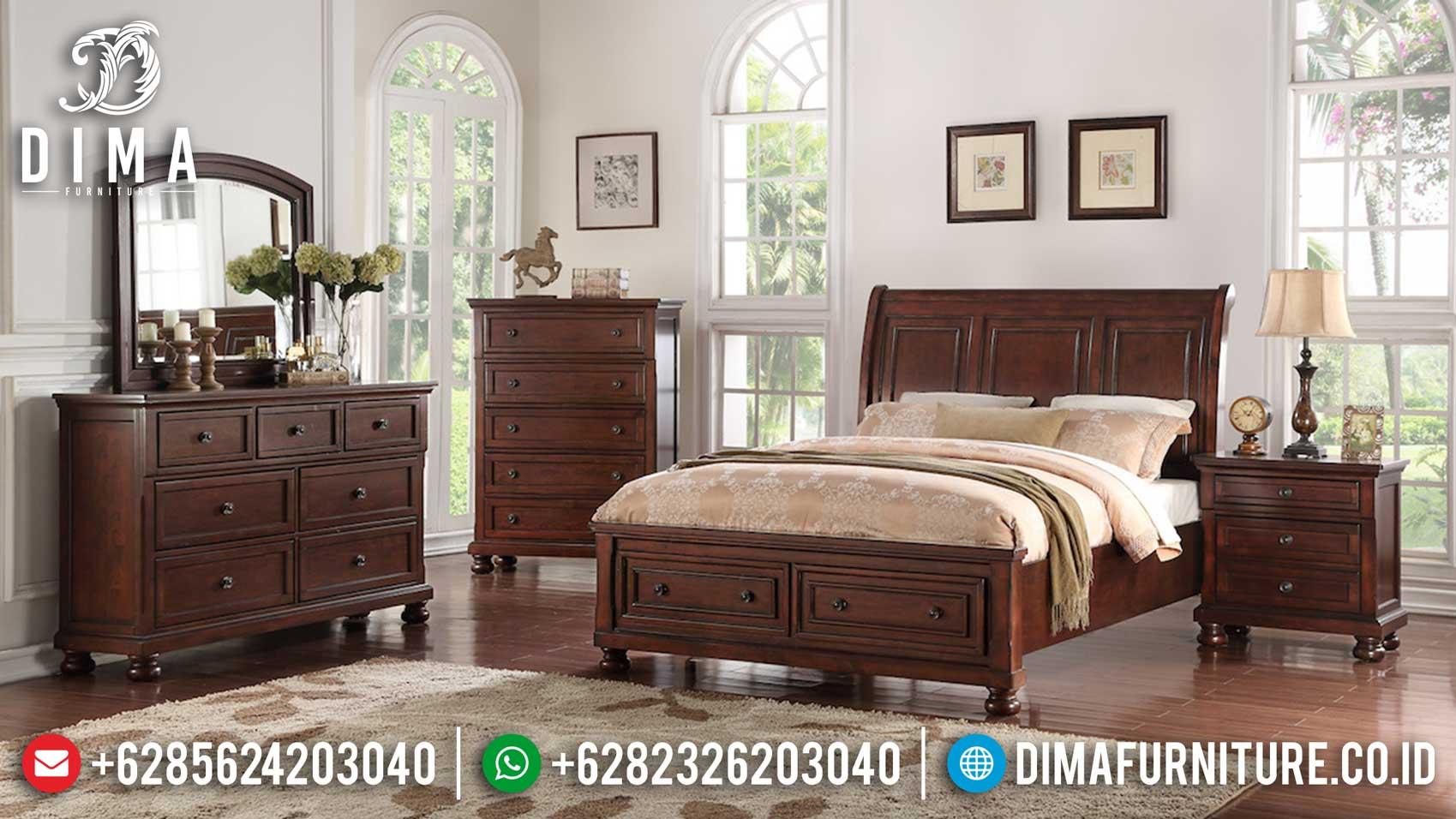 Harga Tempat Tidur Kayu Jati Perhutani Natural Great Solid Wood Class TTJ-1094