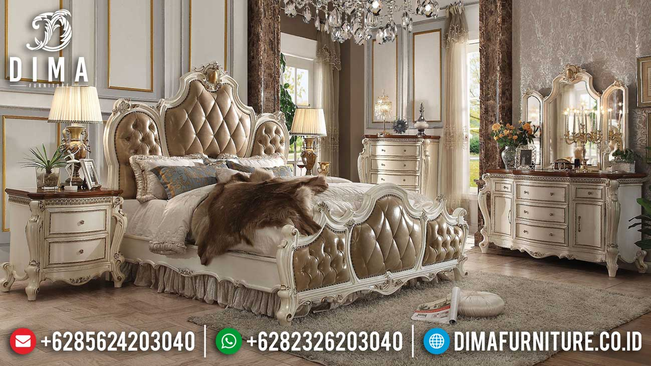 Harga Tempat Tidur Mewah Ukiran Luxury Classic Greatest Furniture Item Sale TTJ-1139