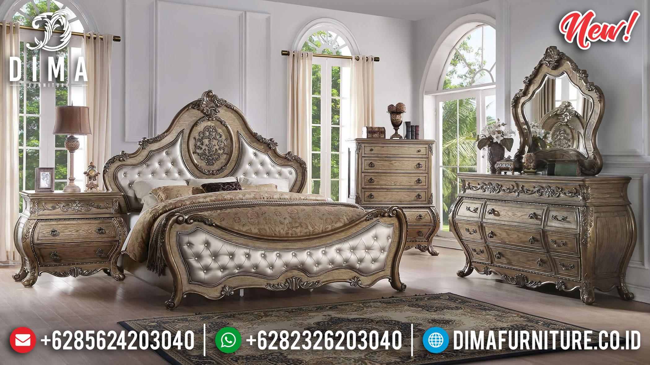 Jual Kamar Set Ukiran Mewah Luxury Classic Jepara New 2020 Design TTJ-1082