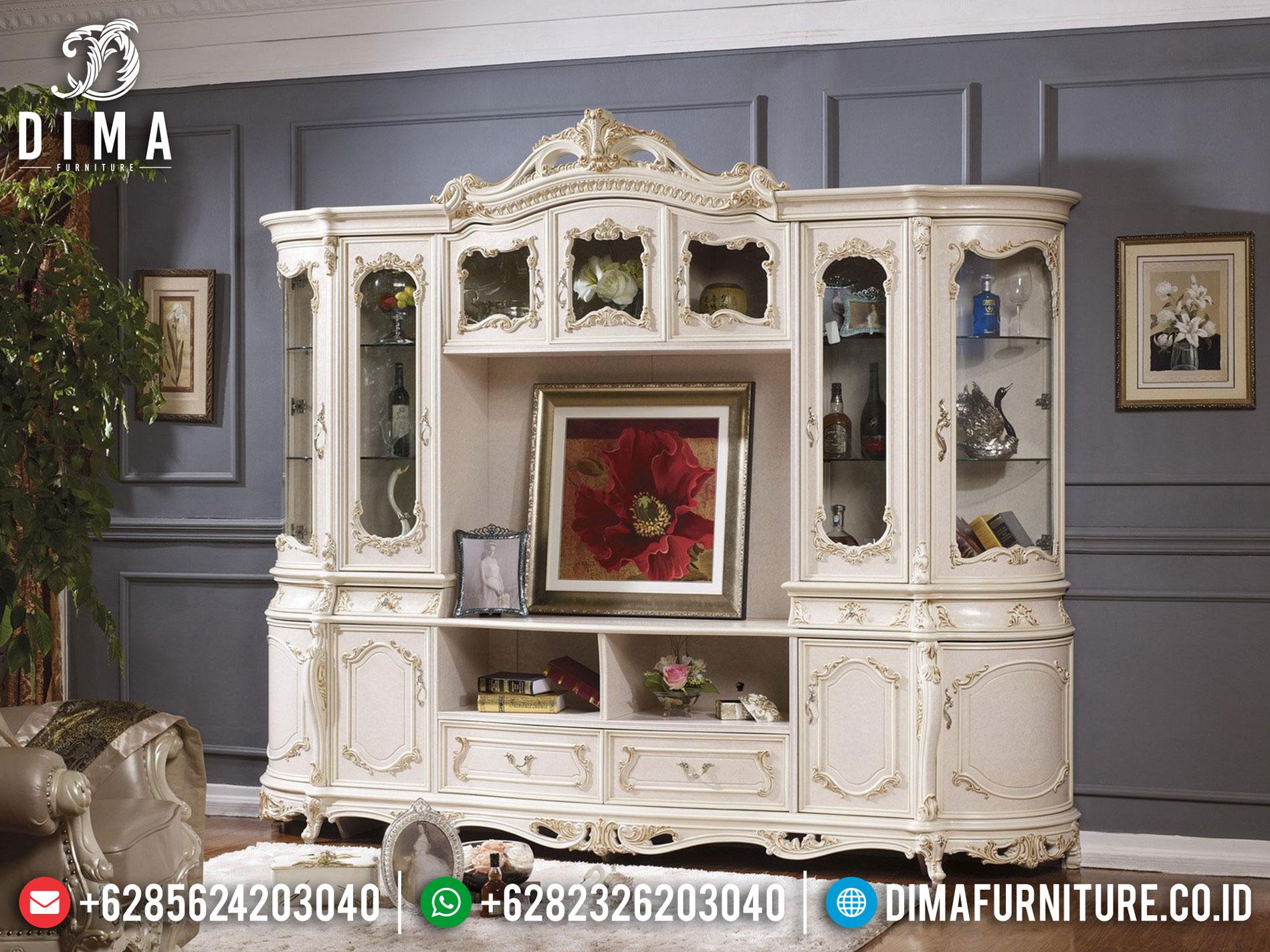 Jual Lemari Hias Ukiran Mewah Unique Design Kualitas Grade A Furniture Jepara TTJ-1034
