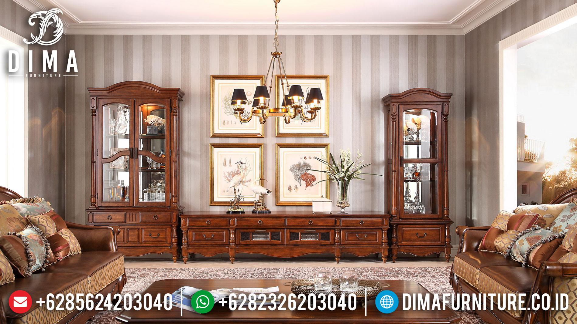 New Bufet TV Ukiran Luxury Design Living Room Classic Elegant Furniture Jepara BT-0879