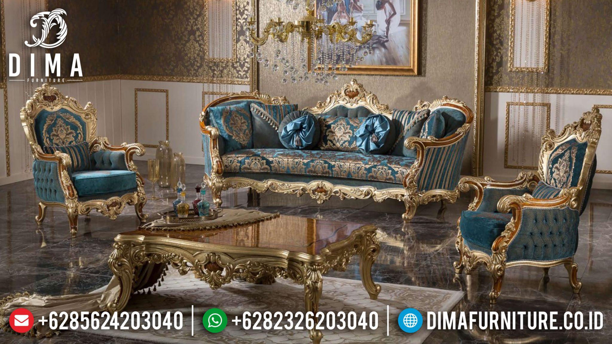 Jual Sofa Tamu Mewah Terlaris Design Luxury Classic Natural Combine TTJ-0988