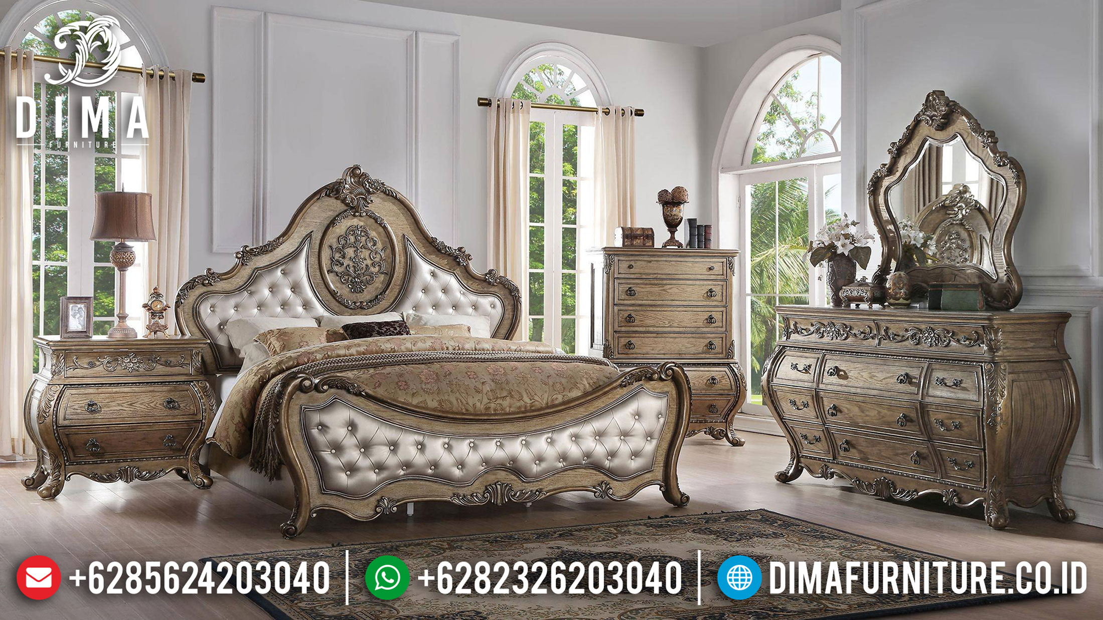 Model Kamar Set Mewah Classic Empire Carving Furniture Jepara Terupdate TTJ-1120