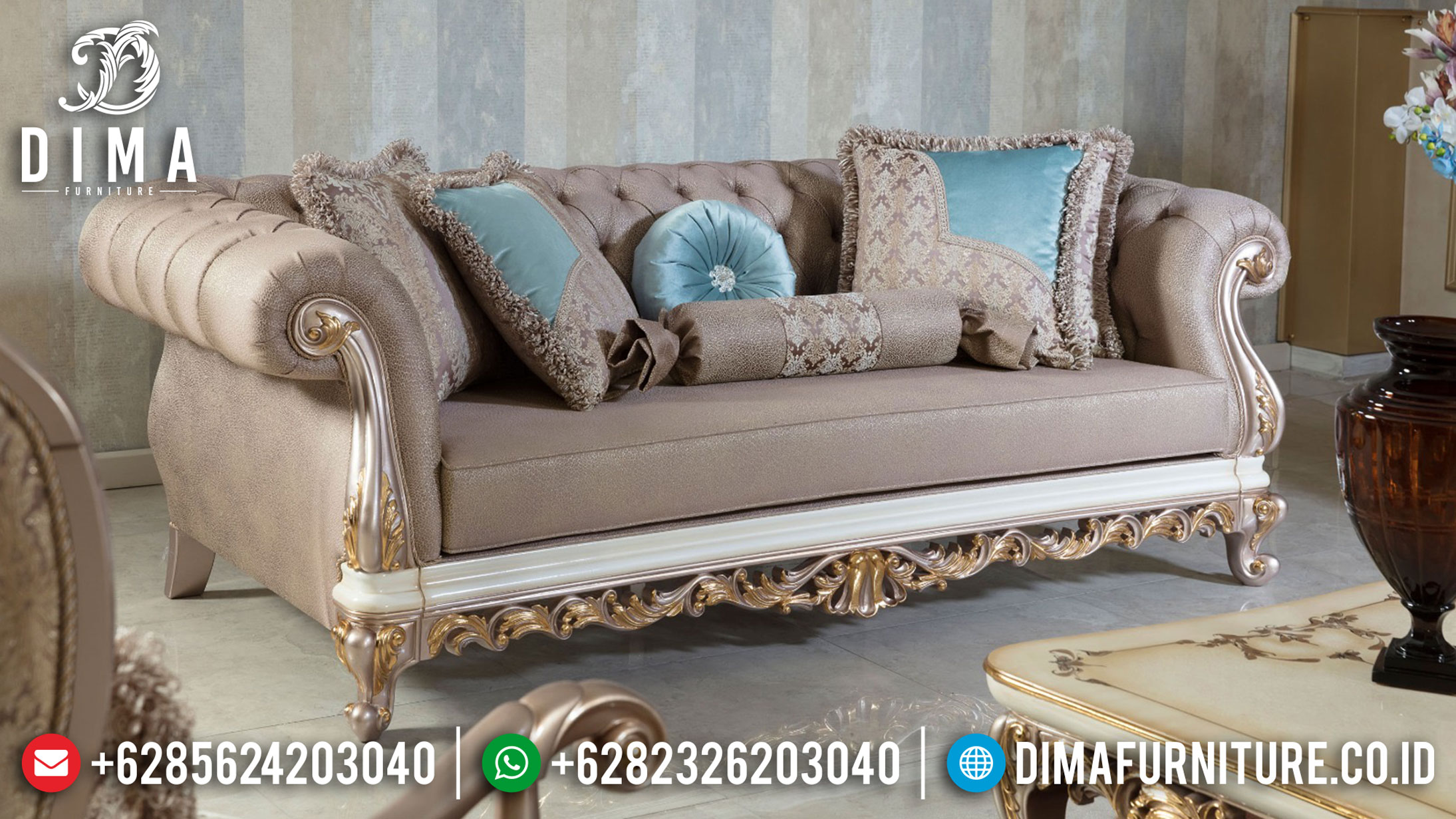 Model Sofa Mewah Jepara Luxury Design Furniture Jepara Terbaru TTJ-1055