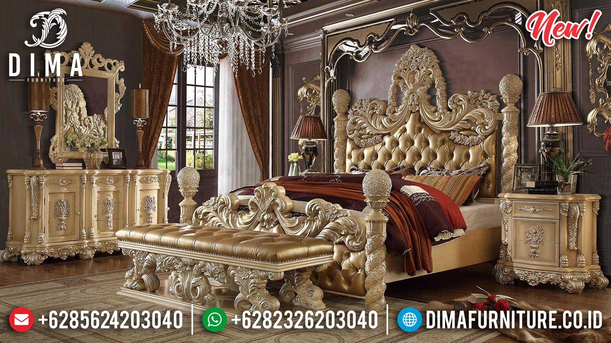 Model Tempat Tidur Ukiran Jepara Luxury Classic Empire Kingdom Style TTJ-1078