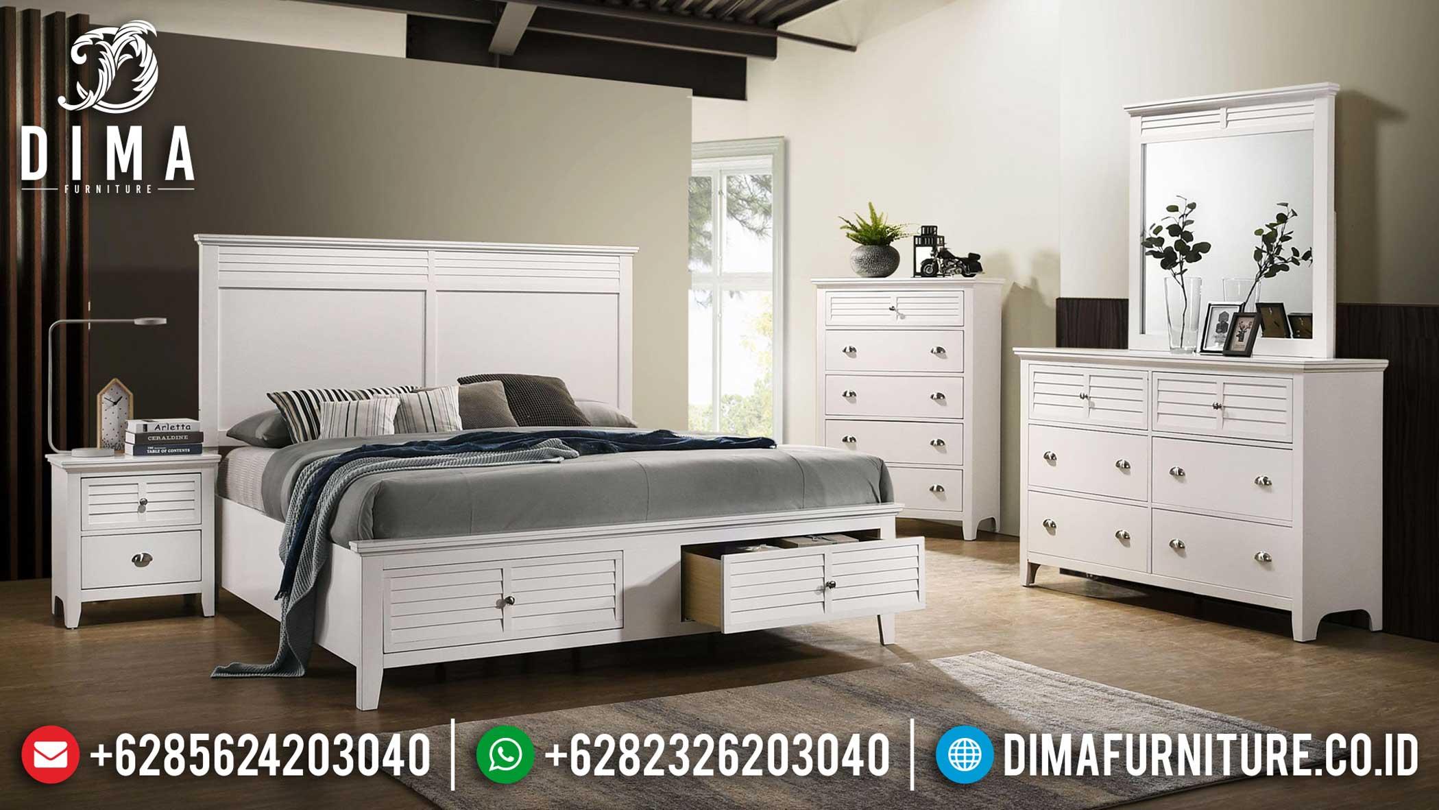 New Set Tempat Tidur Modern Minimalis Putih Duco Pricebreak Sesion TTJ-1102