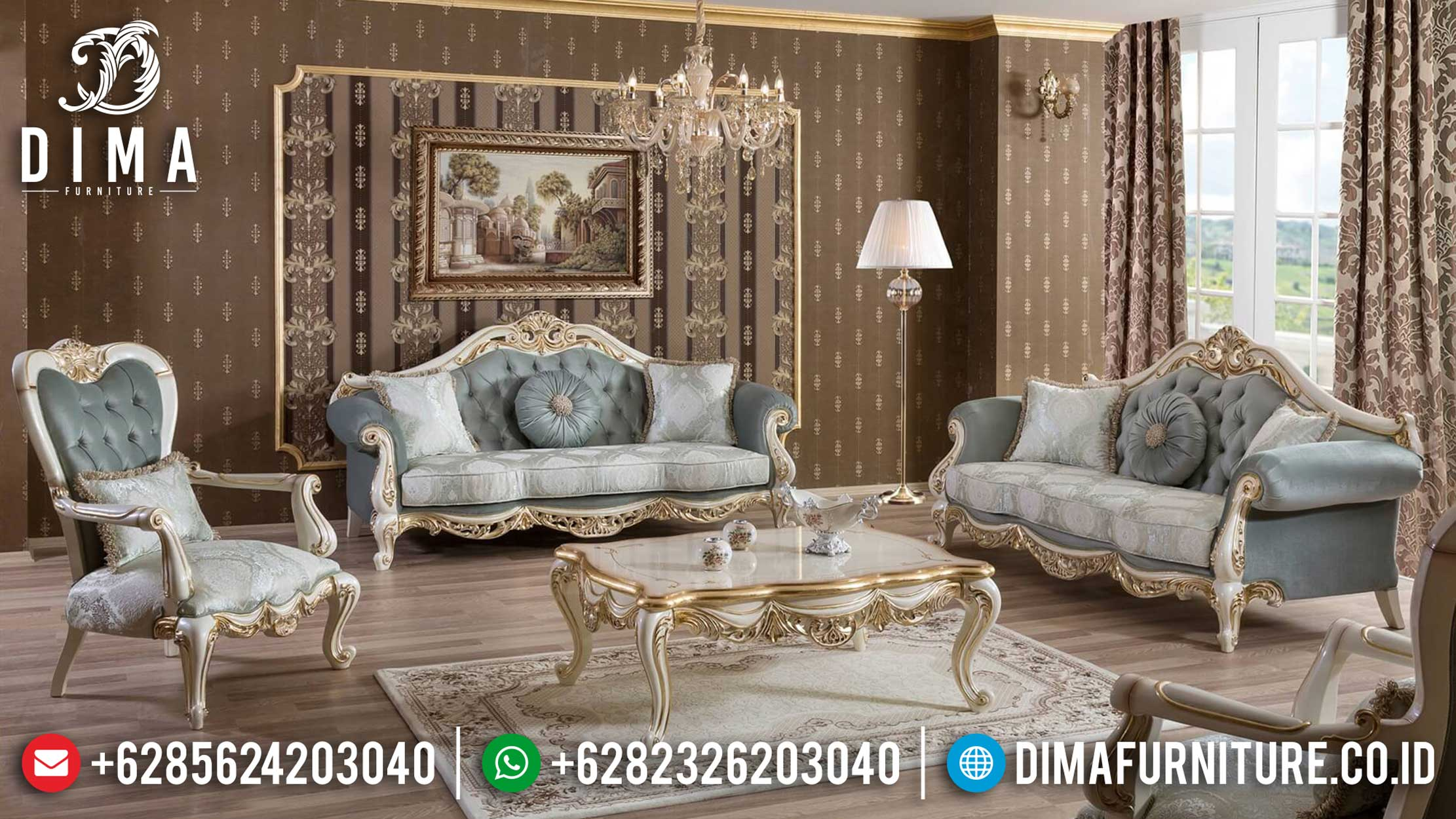 New Sofa Tamu Mewah Luxury Classic Turkish Salon Style Furniture Jepara TTJ-0984