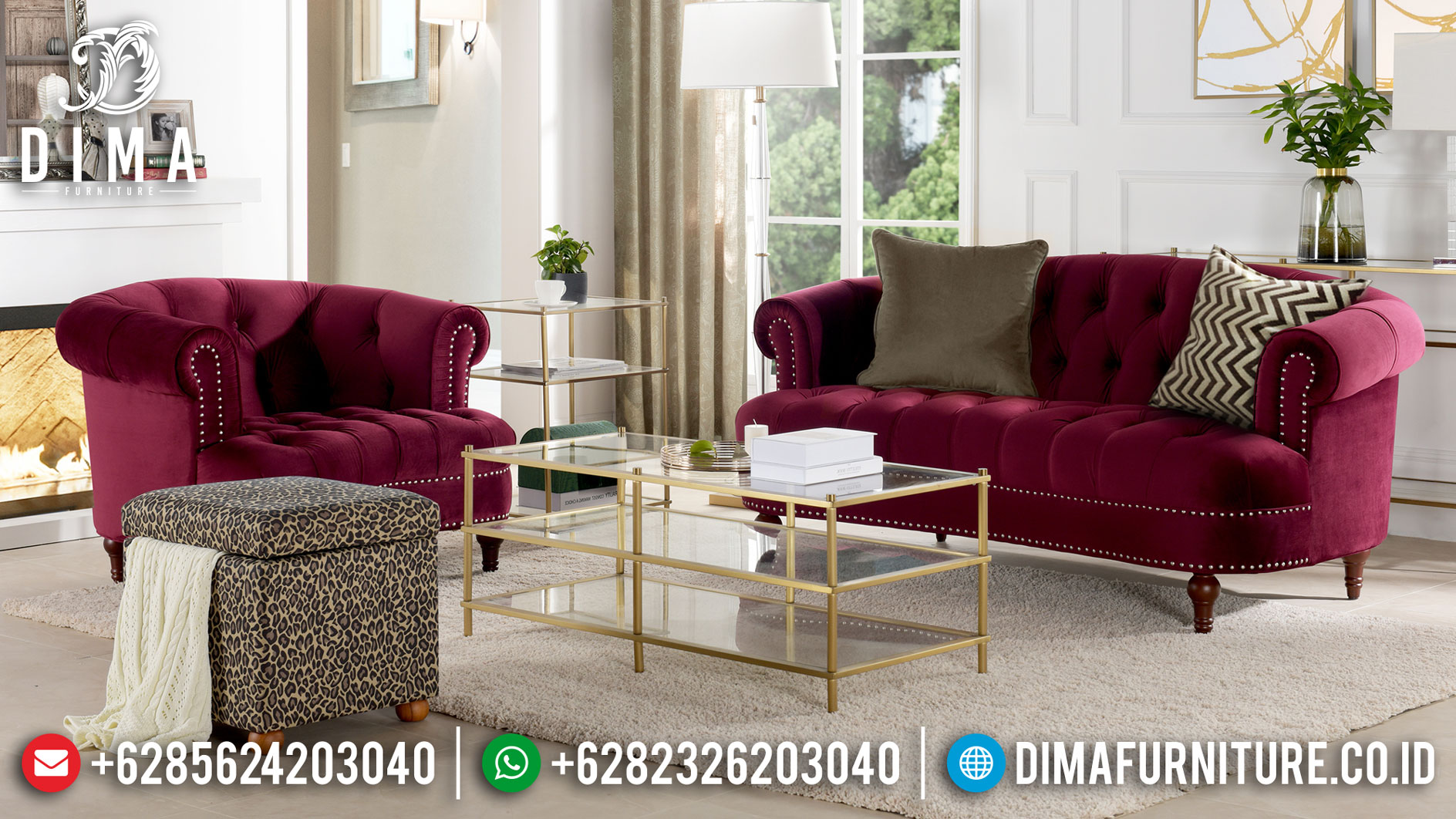 New Sofa Tamu Minimalis Modern Elegant Design Furniture Jepara TTJ-1061